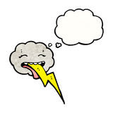 Cartoon raincloud with thought bubble Royalty Free Stock Photos