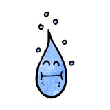 Cartoon raindrop Stock Photos