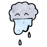 Cartoon raining cloud Royalty Free Stock Photos