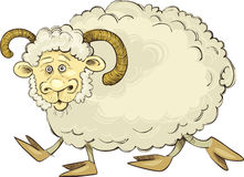 Cartoon ram Stock Photo