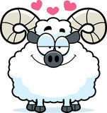 Cartoon Ram in Love Stock Photography