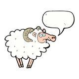 Cartoon ram with speech bubble Stock Photography