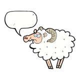 Cartoon ram with speech bubble Royalty Free Stock Image