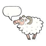 Cartoon ram with speech bubble Stock Photos