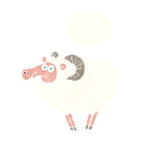 Cartoon ram with thought bubble Royalty Free Stock Images