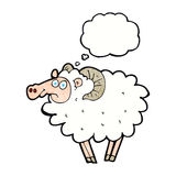 Cartoon ram with thought bubble Royalty Free Stock Image