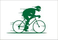 Cartoon rapid cyclist logo Royalty Free Stock Photo