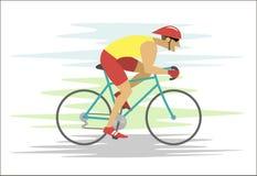 Cartoon rapid cyclist Stock Images