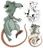 Cartoon Rat. Vector funny Cartoon Rat for decoration and design Stock Image