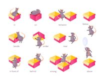Prepositions of place vector