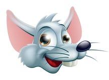 Cartoon Rat Face. Illustration of a cute happy cartoon rat characters face Stock Photo