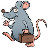 Cartoon rat get out Royalty Free Stock Photo