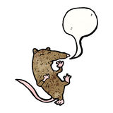 Cartoon rat having heart attack Stock Images