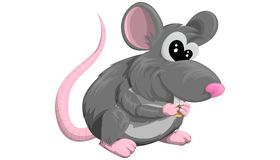 Free Cartoon Rat Or Mouse Symbol Of The Year In Vector Design On A White Background Stock Images - 164217704