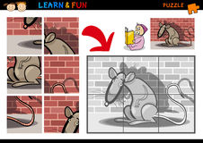 Cartoon rat puzzle game Stock Image