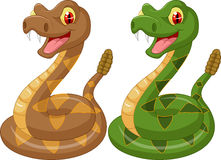 Cartoon rattle snake Royalty Free Stock Photo