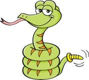 Cartoon rattle snake. stock illustration