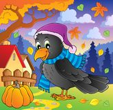 Cartoon raven theme image 2 Stock Photography