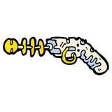 Cartoon ray gun Royalty Free Stock Photography