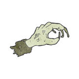 cartoon reaching zombie hand Royalty Free Stock Photo