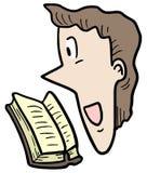 Cartoon read Stock Image