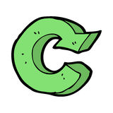 cartoon recycling symbol Royalty Free Stock Photo
