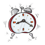 Cartoon red alarm clock Royalty Free Stock Photography