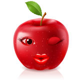 Cartoon Red Apple Stock Photography