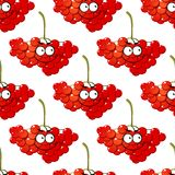 Cartoon red berry seamless pattern Royalty Free Stock Images