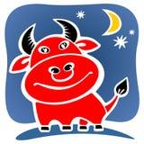 Cartoon red bull Royalty Free Stock Photography