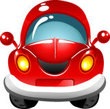 Cartoon red car Royalty Free Stock Photo