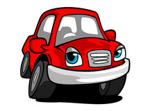 Cartoon red car Stock Image