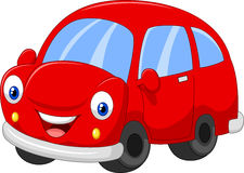 Cartoon red car Royalty Free Stock Photography