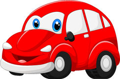 Cartoon red car Stock Photo