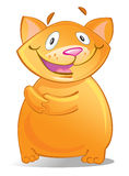 Cartoon red cat Royalty Free Stock Image