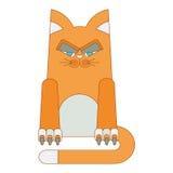 Cartoon red cat Royalty Free Stock Photo