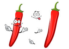 Cartoon red chilli pepper vegetable Royalty Free Stock Photos