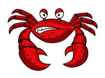 Cartoon red crab character Royalty Free Stock Photos