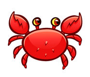 Cartoon red crab Stock Photo