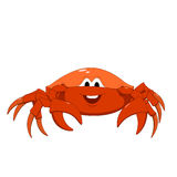 Cartoon red crab Stock Photography