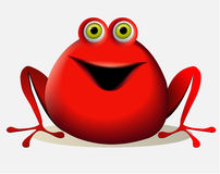 Cartoon red creature Royalty Free Stock Images