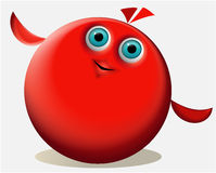 Cartoon red creature Stock Image