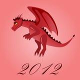 Cartoon red dragon Royalty Free Stock Photo