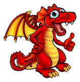 Cartoon Red Dragon Stock Images