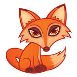 Cartoon Red Fox. Vector cartoon illustration of a cute little red fox royalty free illustration