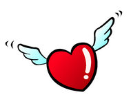 Cartoon red heart Stock Images
