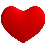 Cartoon red heart in plasticine or clay style Royalty Free Stock Images