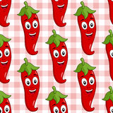 Cartoon Red Hot Chili Pepper Seamless Royalty Free Stock Images
