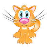 Cartoon red kitten Stock Photos