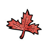 Cartoon red leaf Stock Image